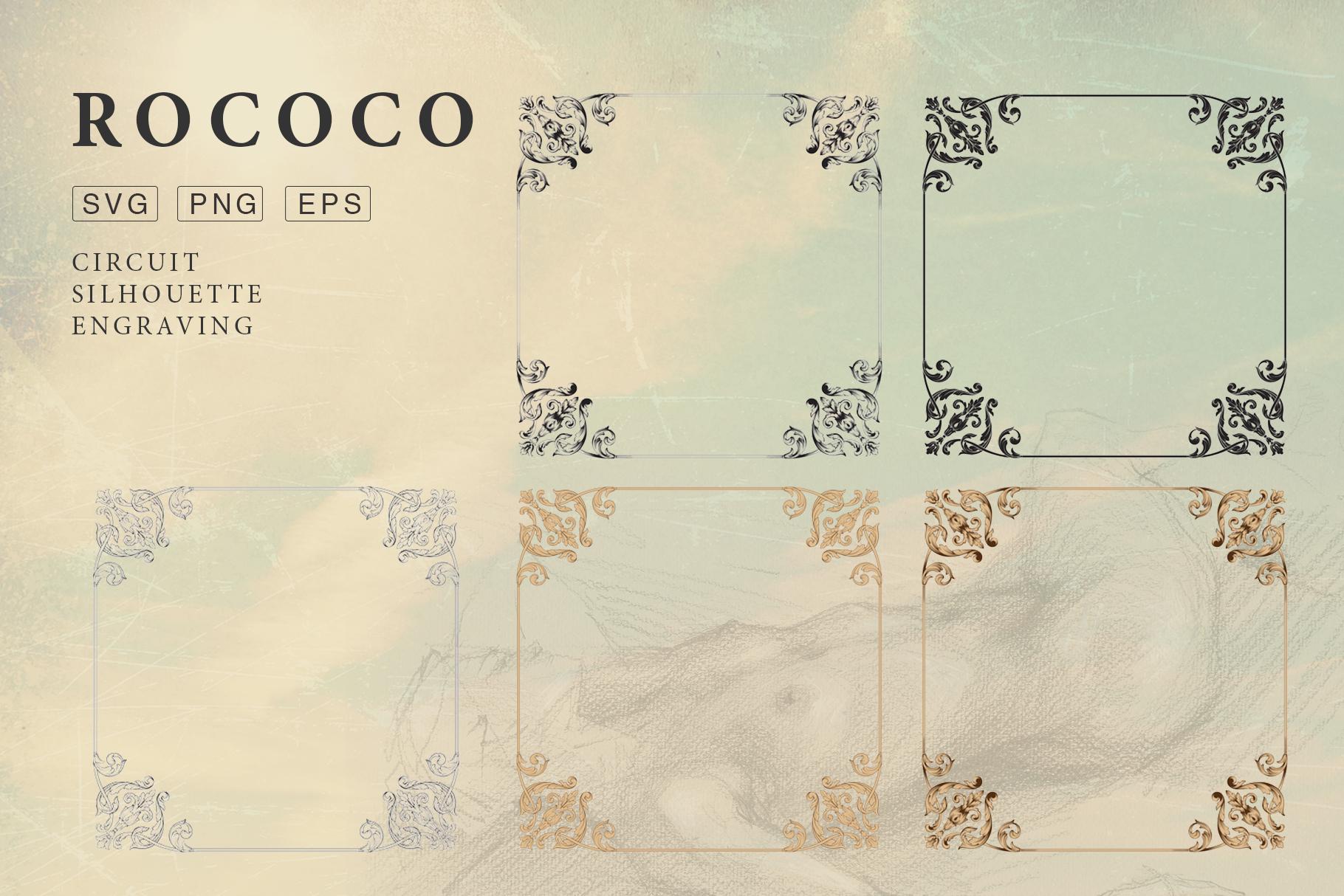 Rococo Romance Ornament page decor example image 9