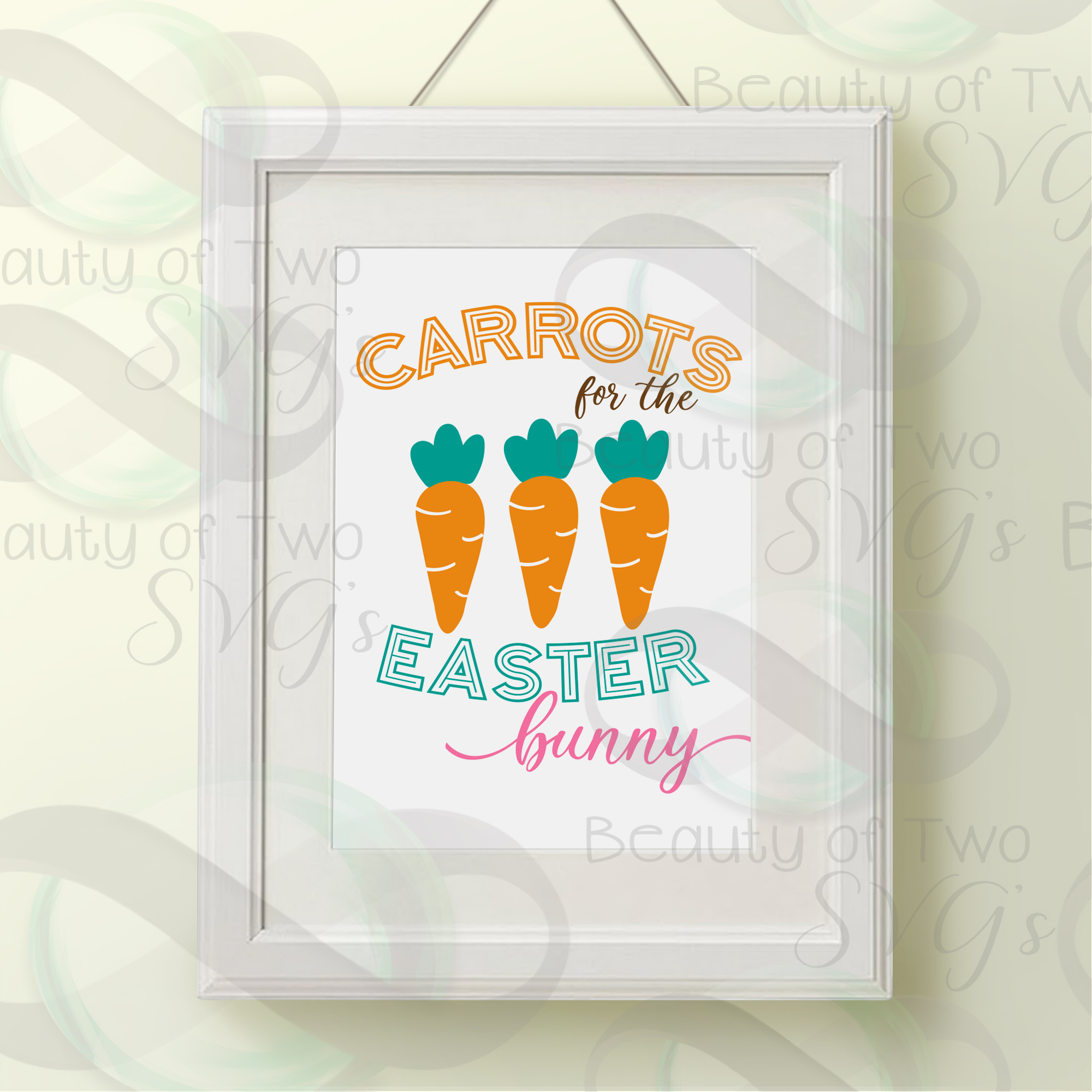 Carrots for the Easter Bunny svg & png, Farmhouse Easter svg example image 3
