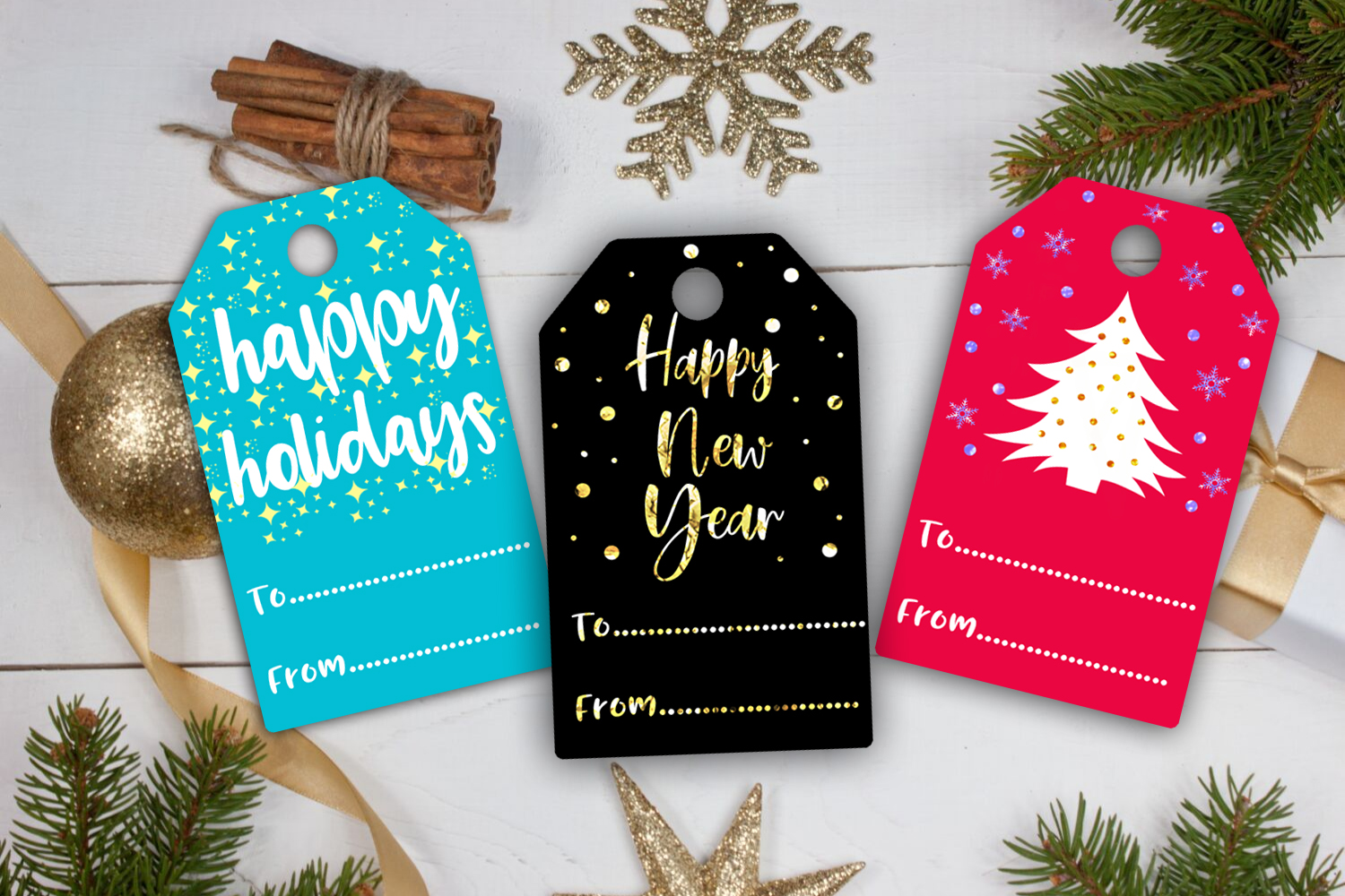 Christmas Gift Tags- Printable Christmas Gift Tags- Gift Tag example image 4