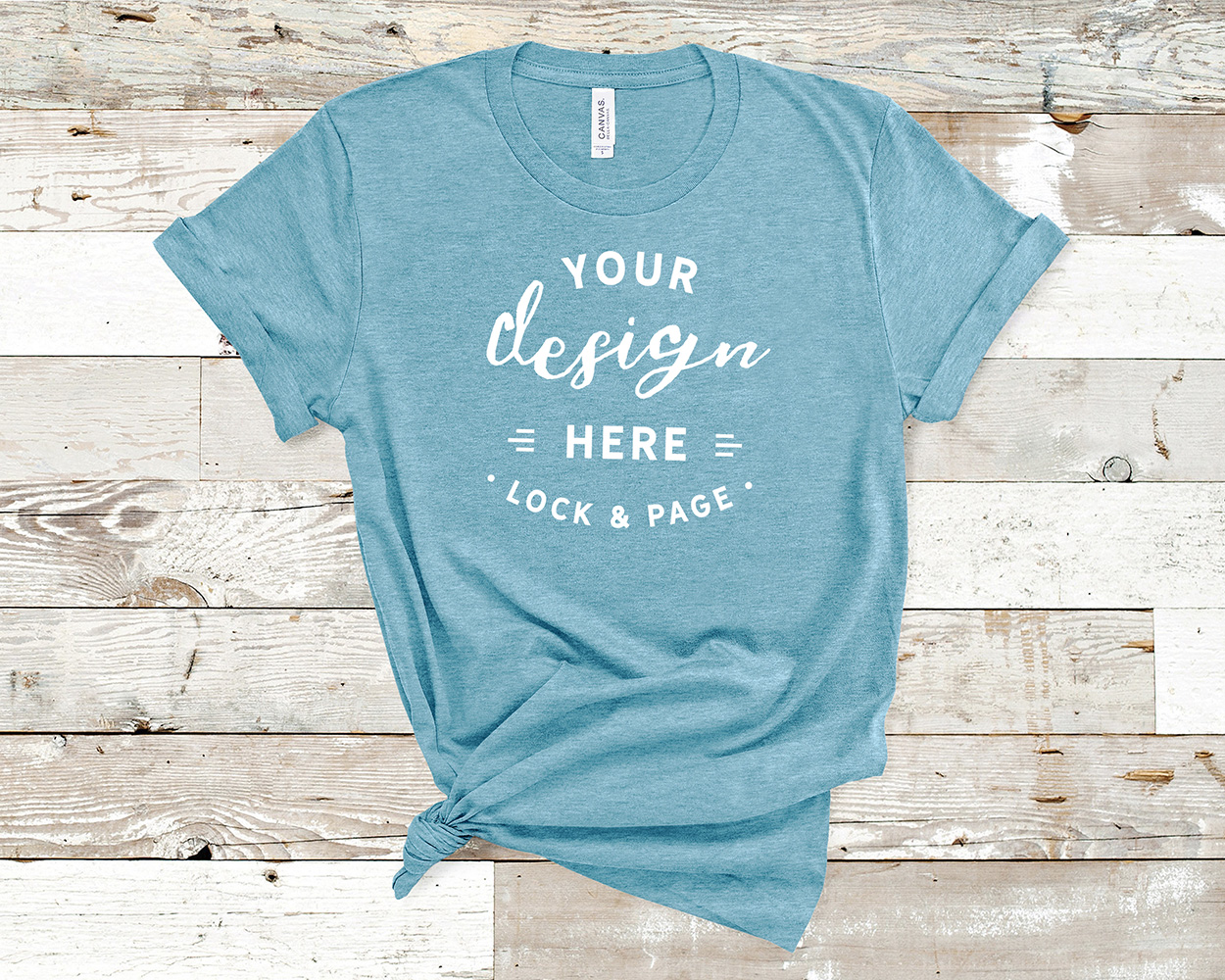Bella Canvas 3001 Mockup T-Shirt Bundle All Colors On Wood example image 16