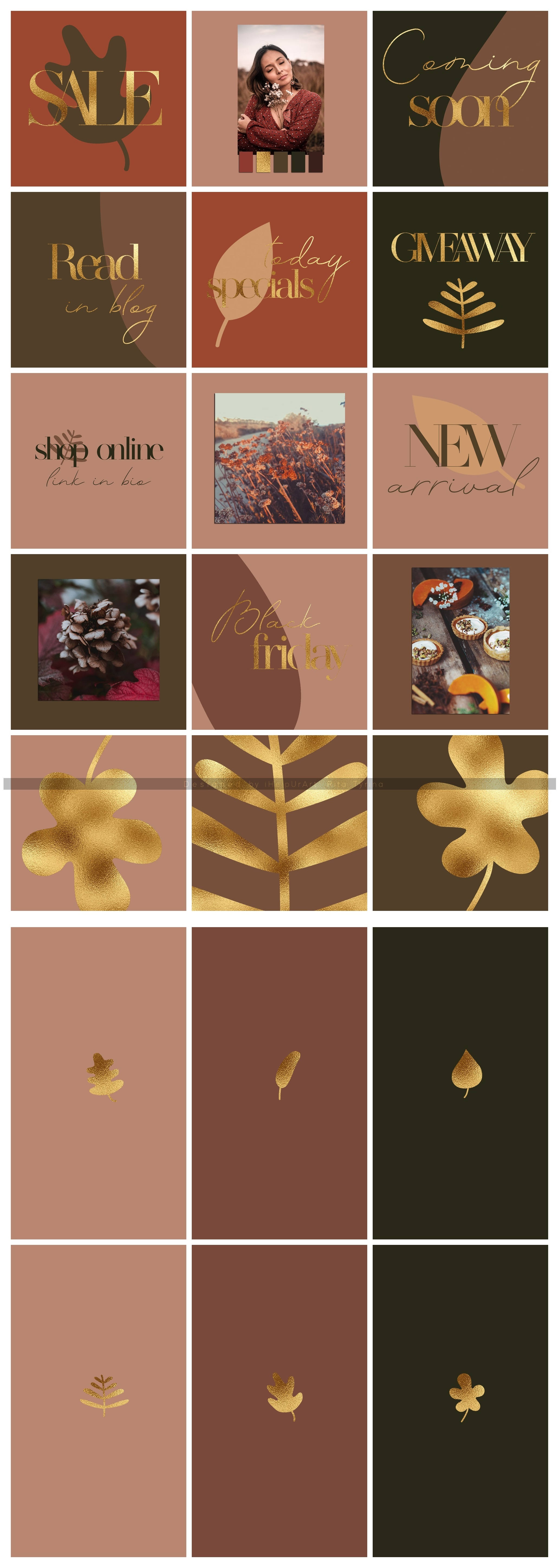 Instagram Posts Pack - Terracotta and Gold example image 4