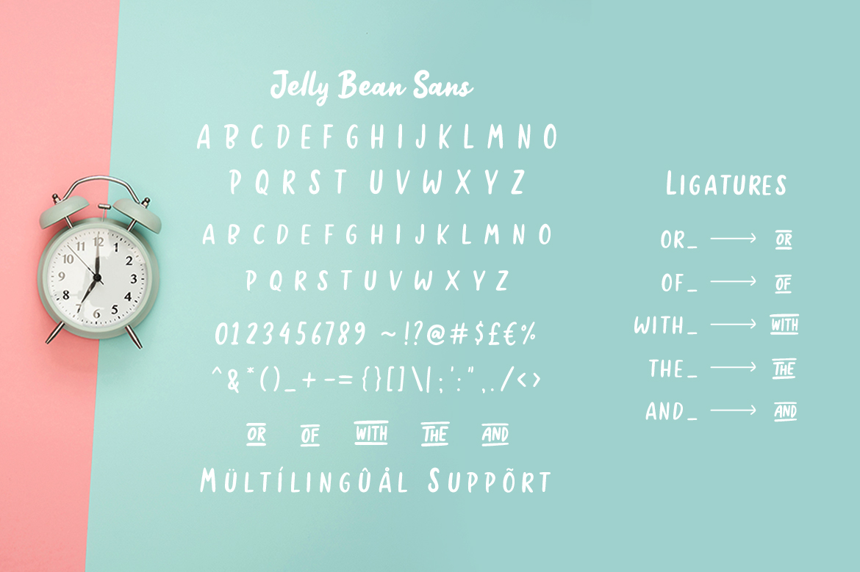 Jellly Bean Script & Sans Fun Font example image 11