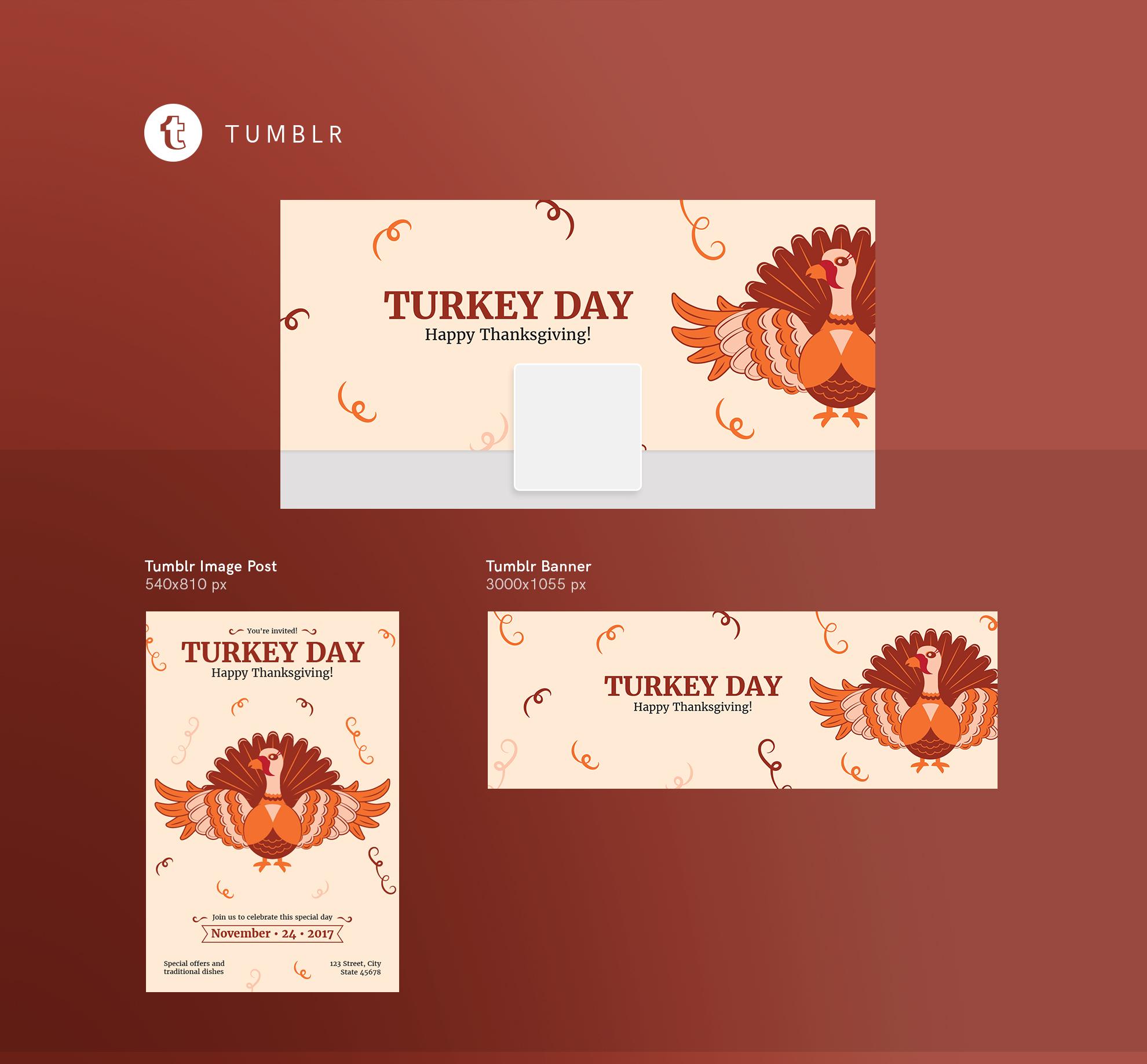 Thanksgiving Celebration Design Templates Bundle example image 13