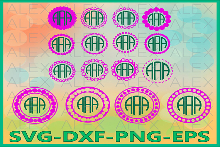 Circle Monogram Frames SVG, Circle Monogram svg example image 1