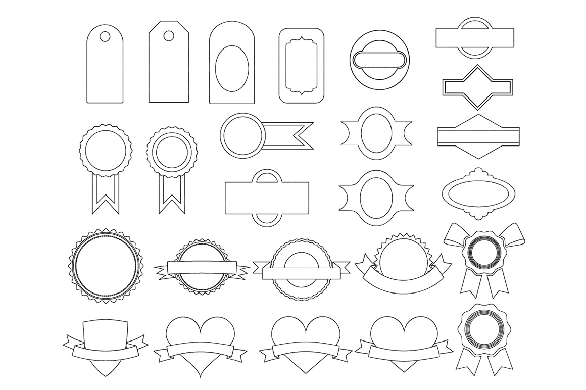 Labels SVG, Price Tag Label svg files for Silhouette Cameo and Cricut. Label clipart PNG included, clipart PNG transparent example image 4
