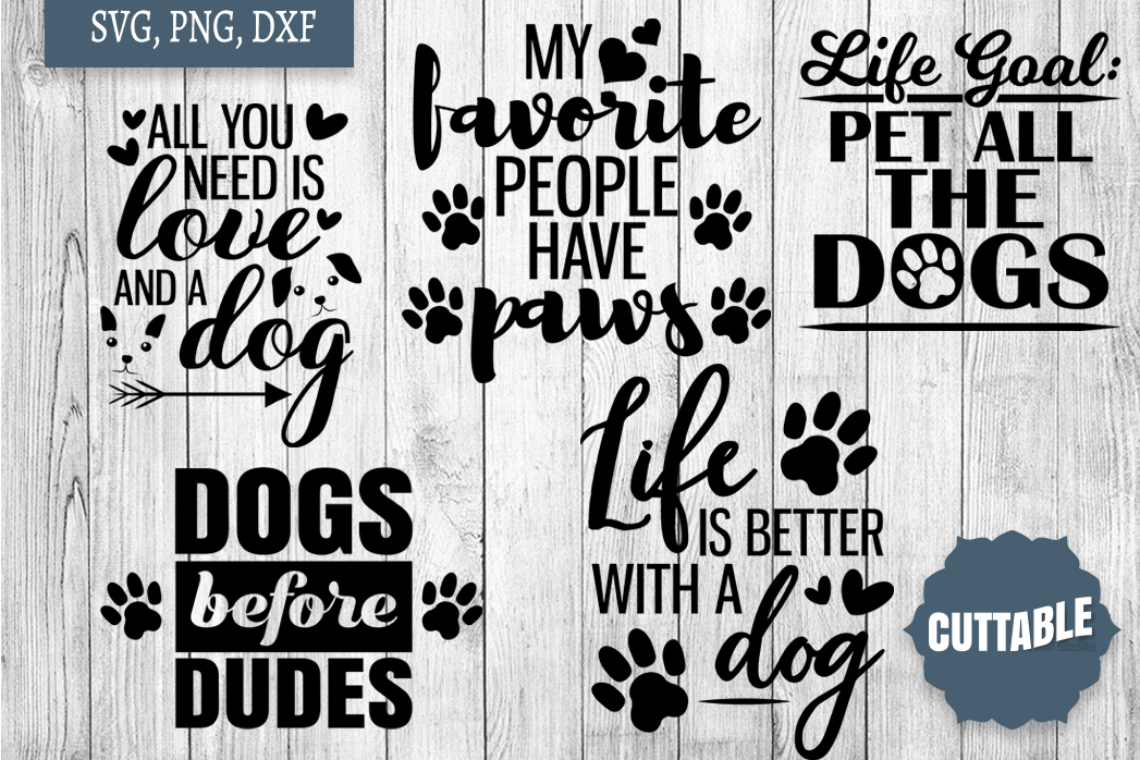 Dog lover cut file Bundle, Dog quote SVGs, 15 Dog quote SVGs example image 3