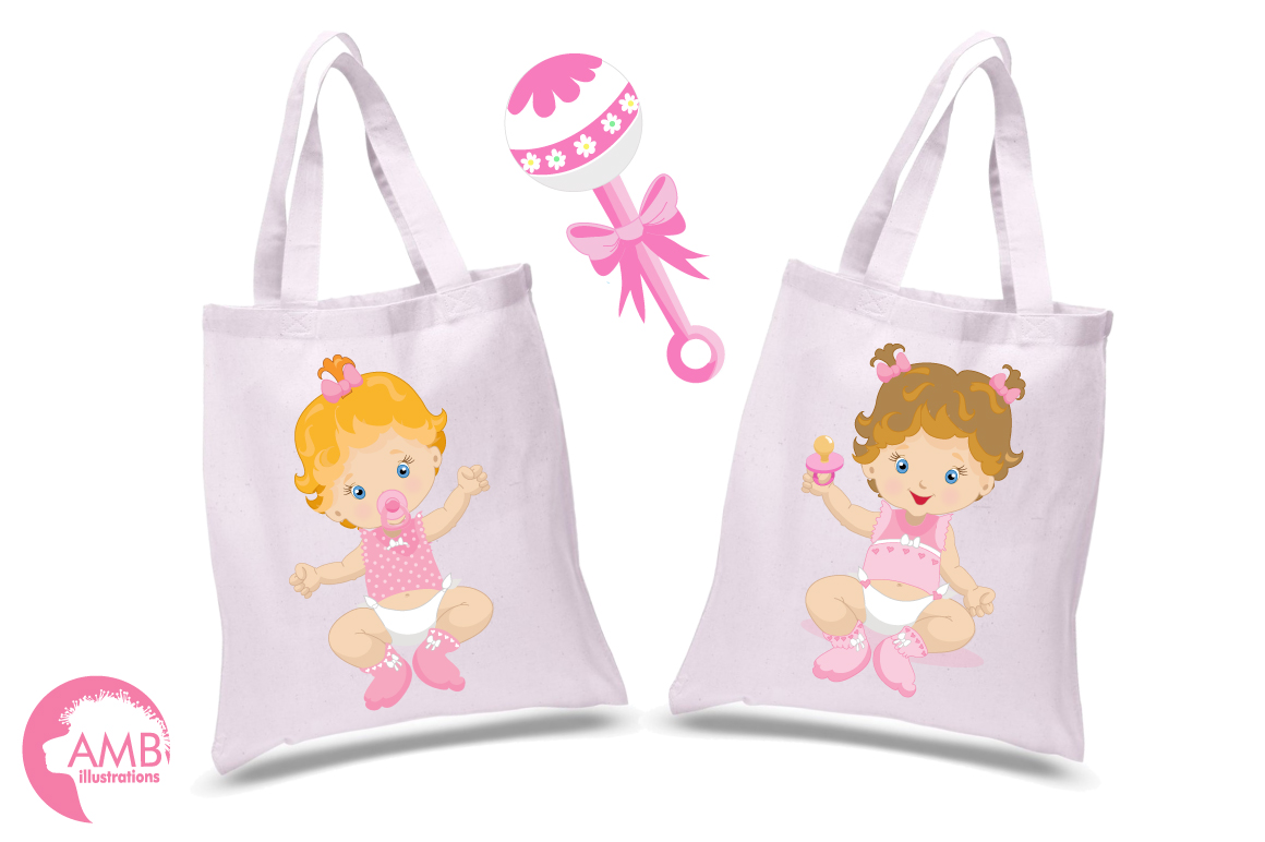 Baby Girl clipart, graphics illustrations AMB-830 example image 4
