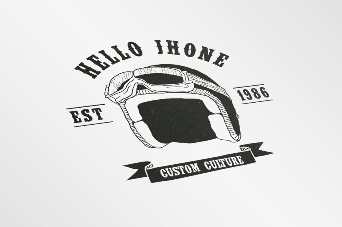 Vintage Badges Motorcycle example image 5