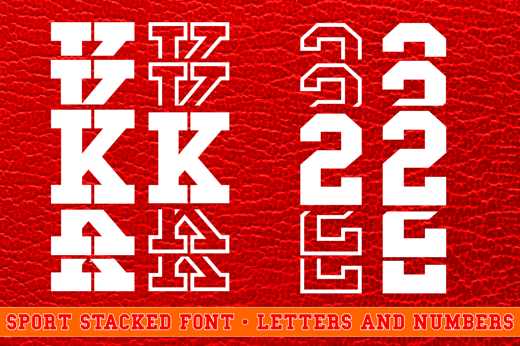 Sport Stacked Font Filled and Outlined Cut File SVG example image 1
