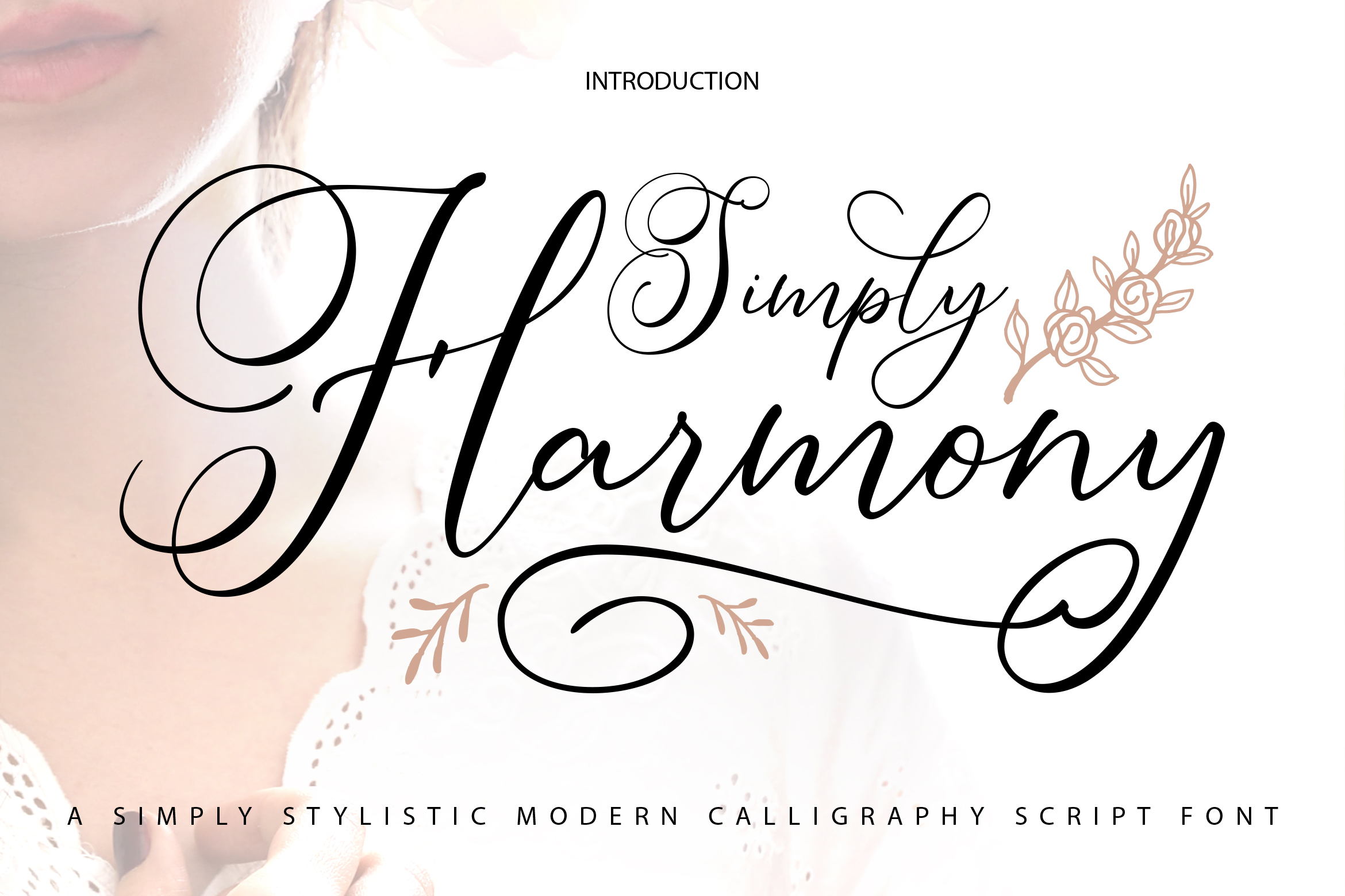 Simply Harmony | ASimply Stylistic Modern Calligraphy Script example image 1