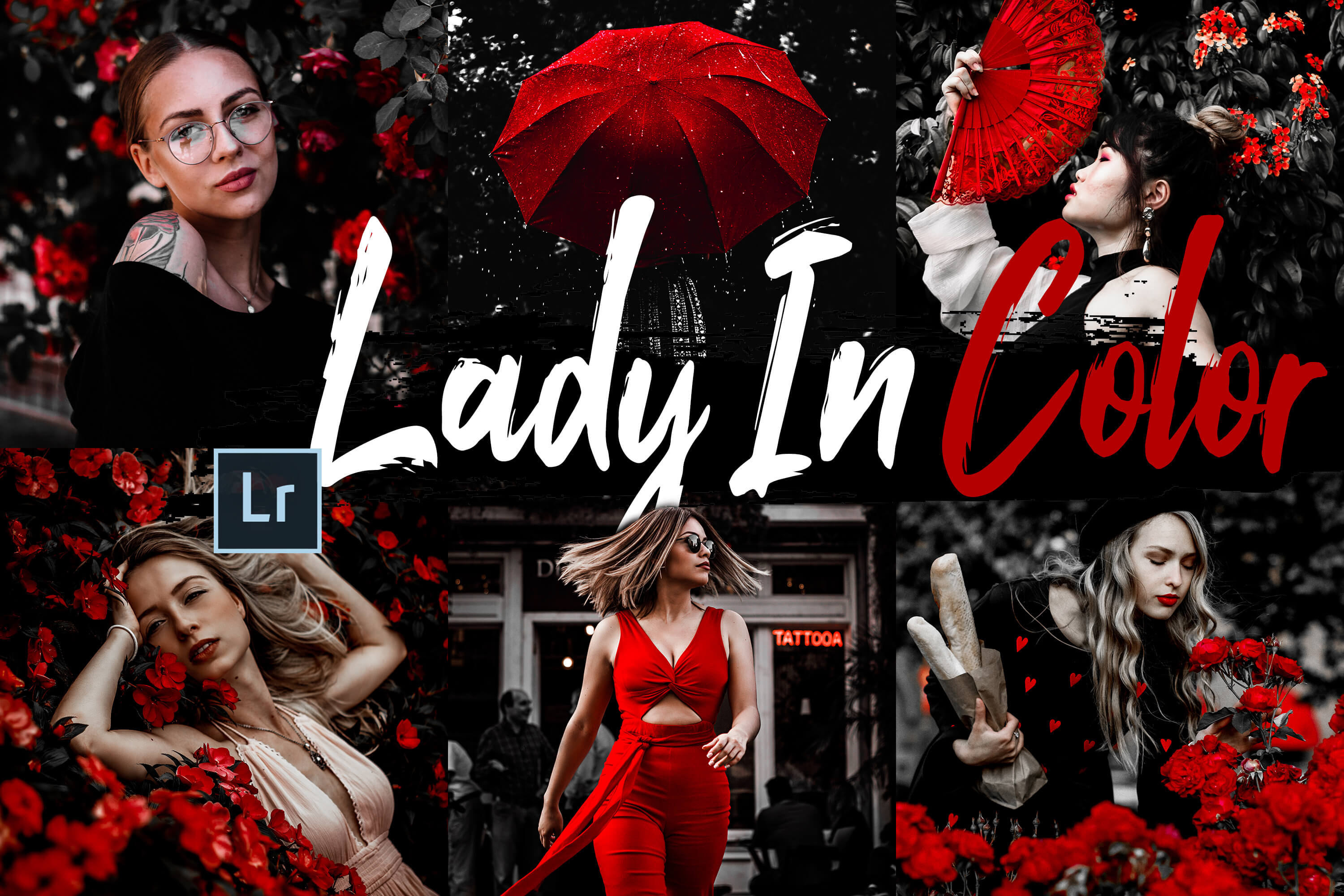 10 Lady In Color Desktop Lightroom Presets and ACR preset example image 1
