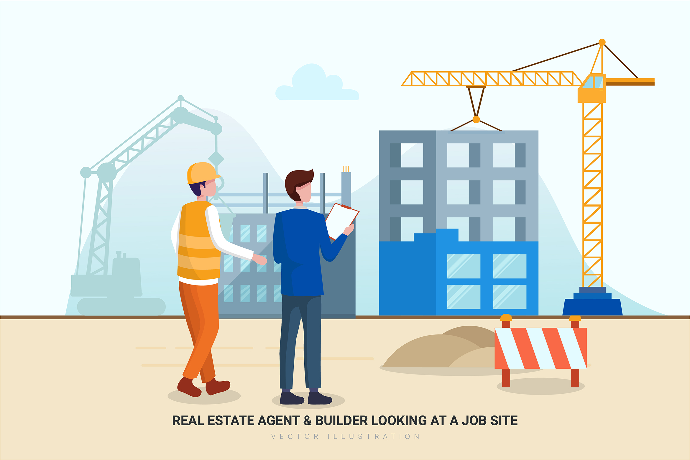 Construction & Real Estate Vector Illustration - Part 30 example image 12