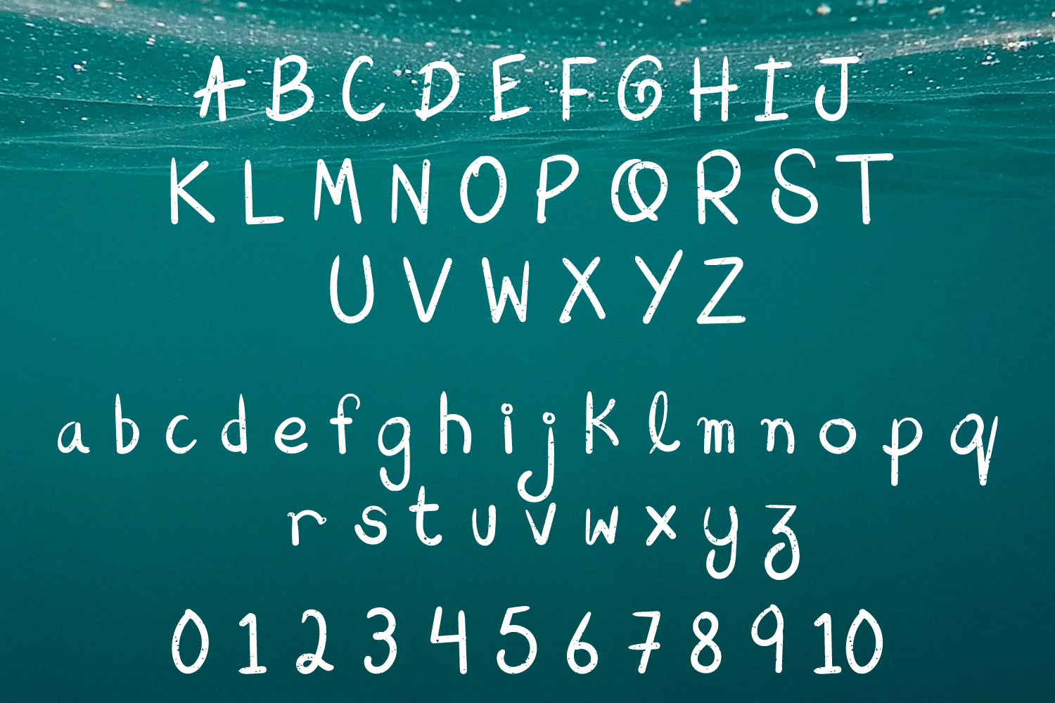 Aqua Beach - Hand Drawn Grunge Font example image 2
