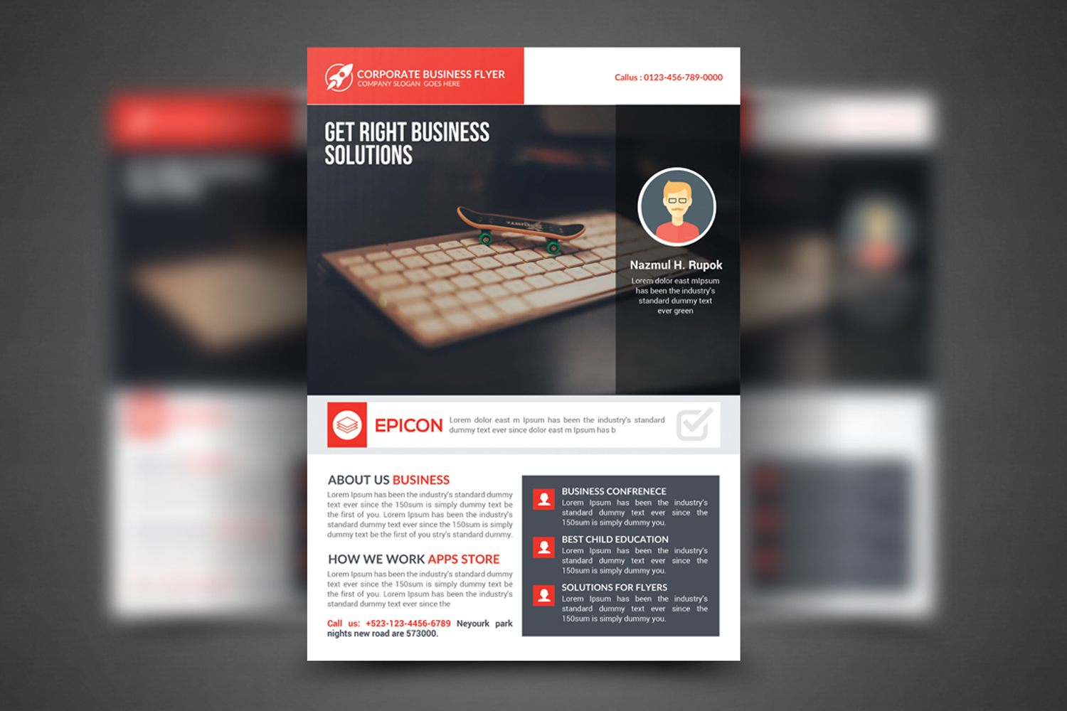 Professional Corporate Business Flyer example image 1