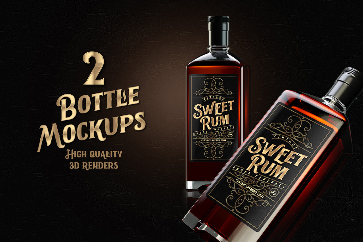 Sweet Rum Font, Label, Mockup example image 3