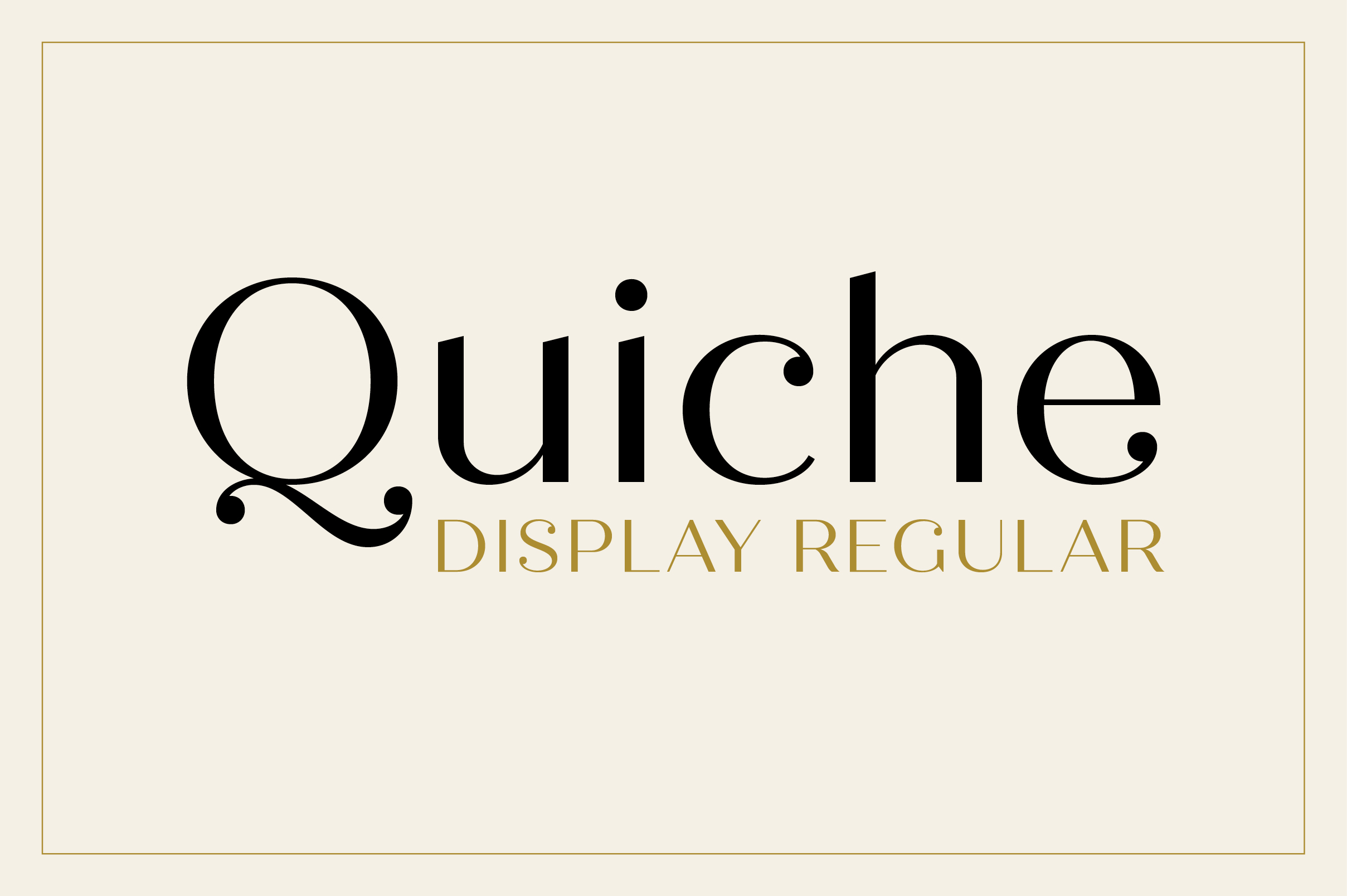 Quiche Display Regular Font example image 1