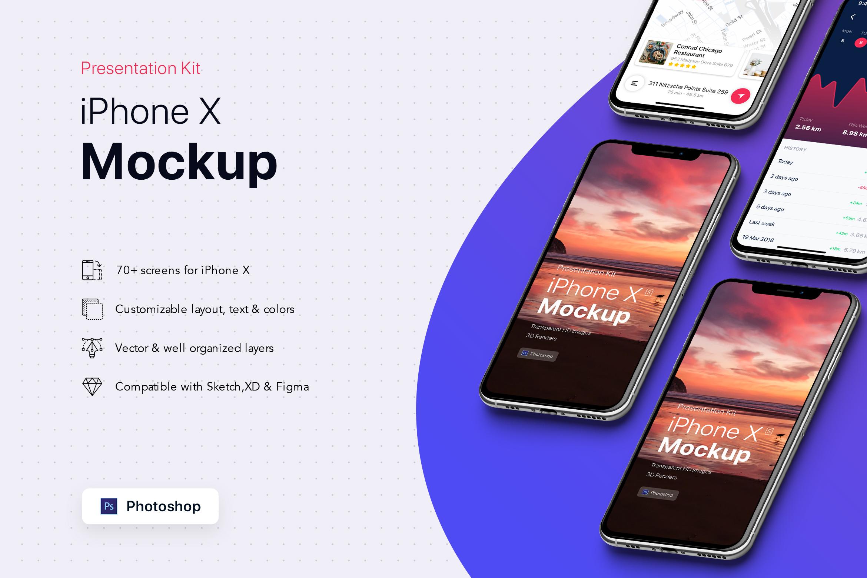 Presentation Kit - iPhone showcase Mockup_v6 example image 5