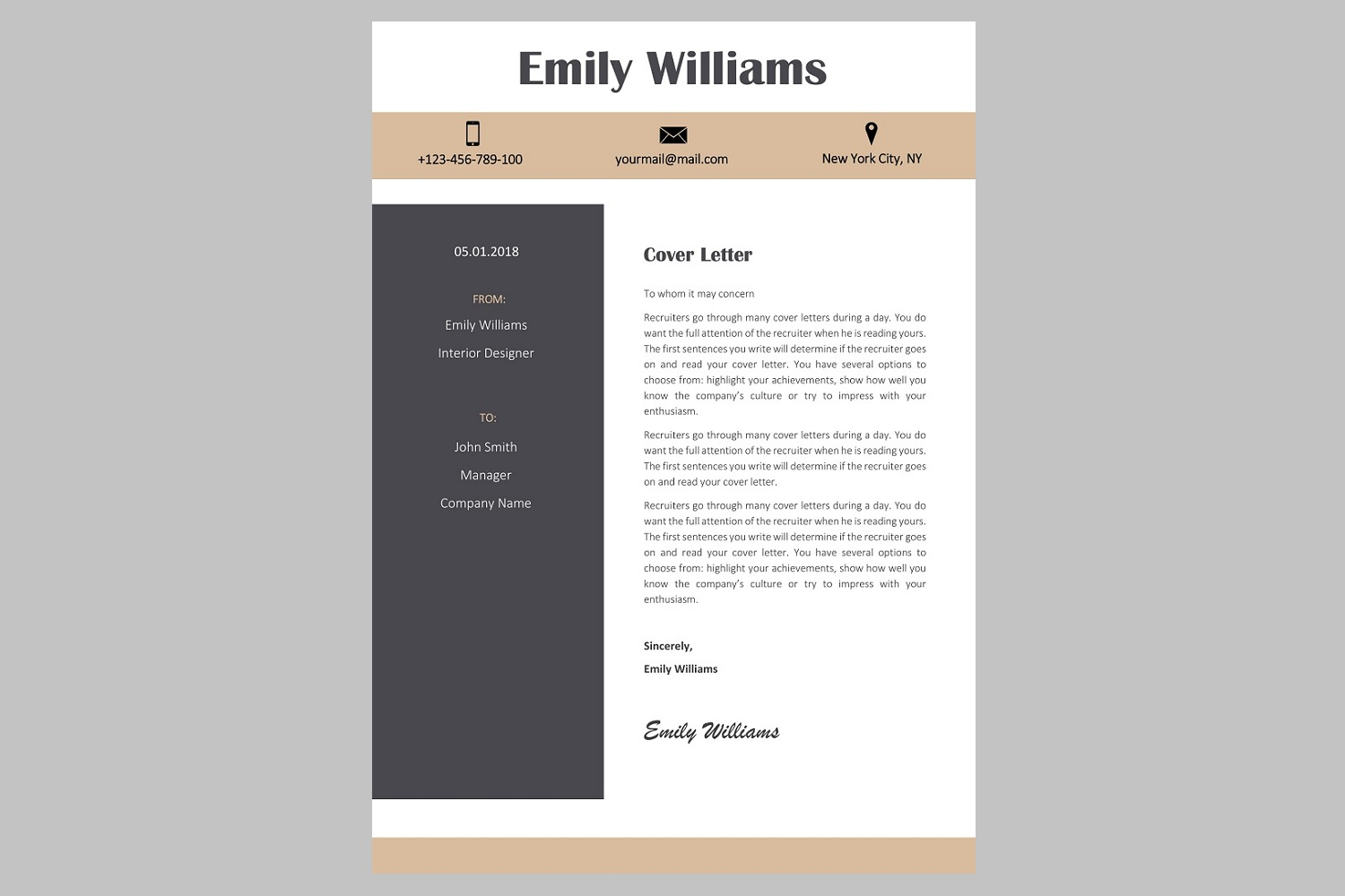Creative resume template / CV. Bundle offer example image 12
