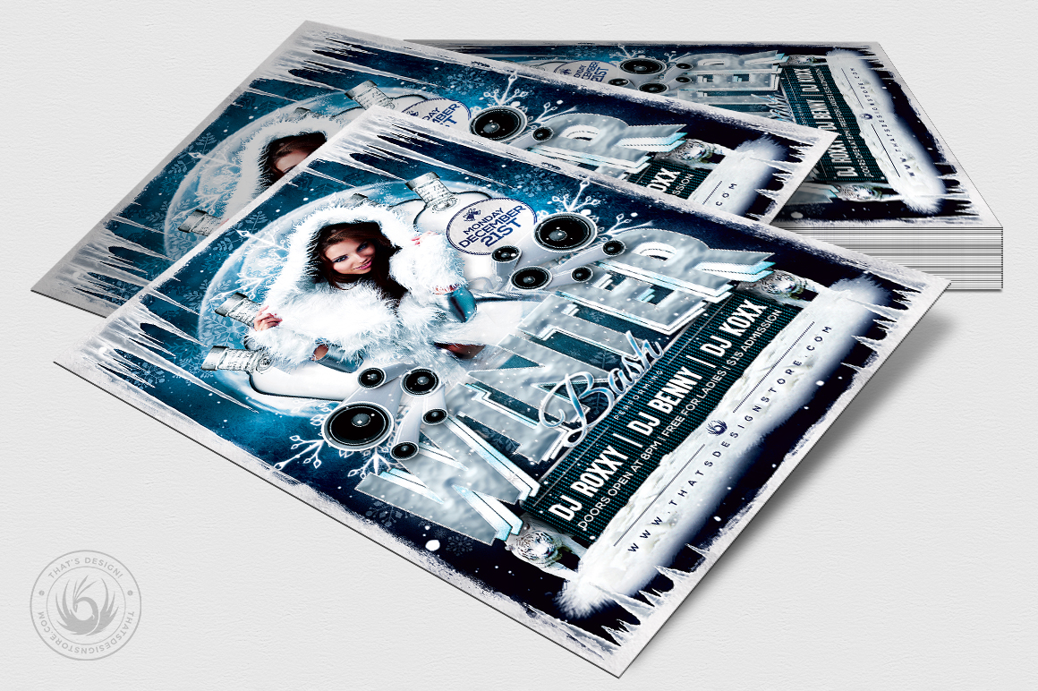 Winter Bash Flyer Template V1 example image 4