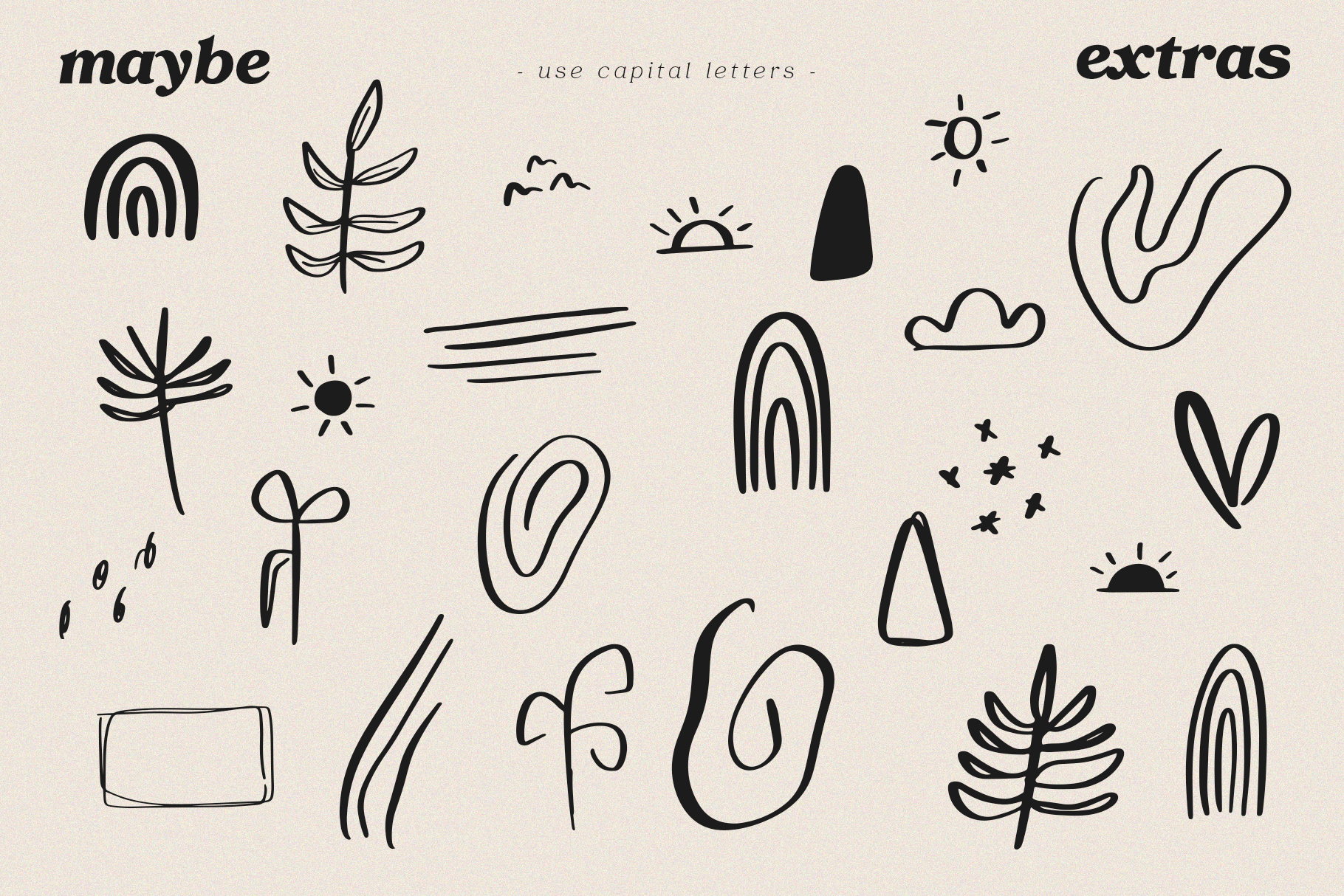 Maybe - Script Font with Doodles example image 14