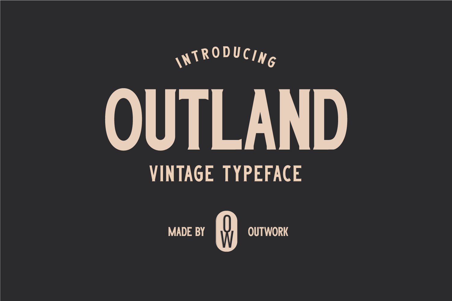 Outland - Vintage Typeface example image 1