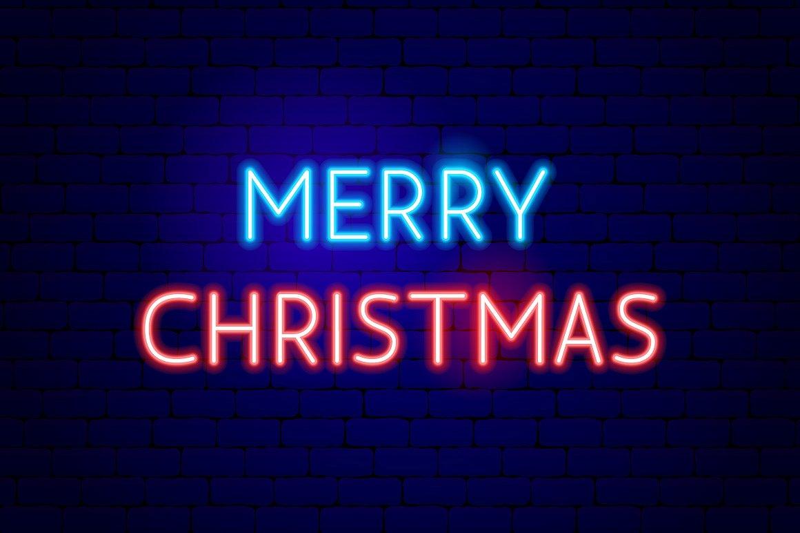Christmas Neon example image 8