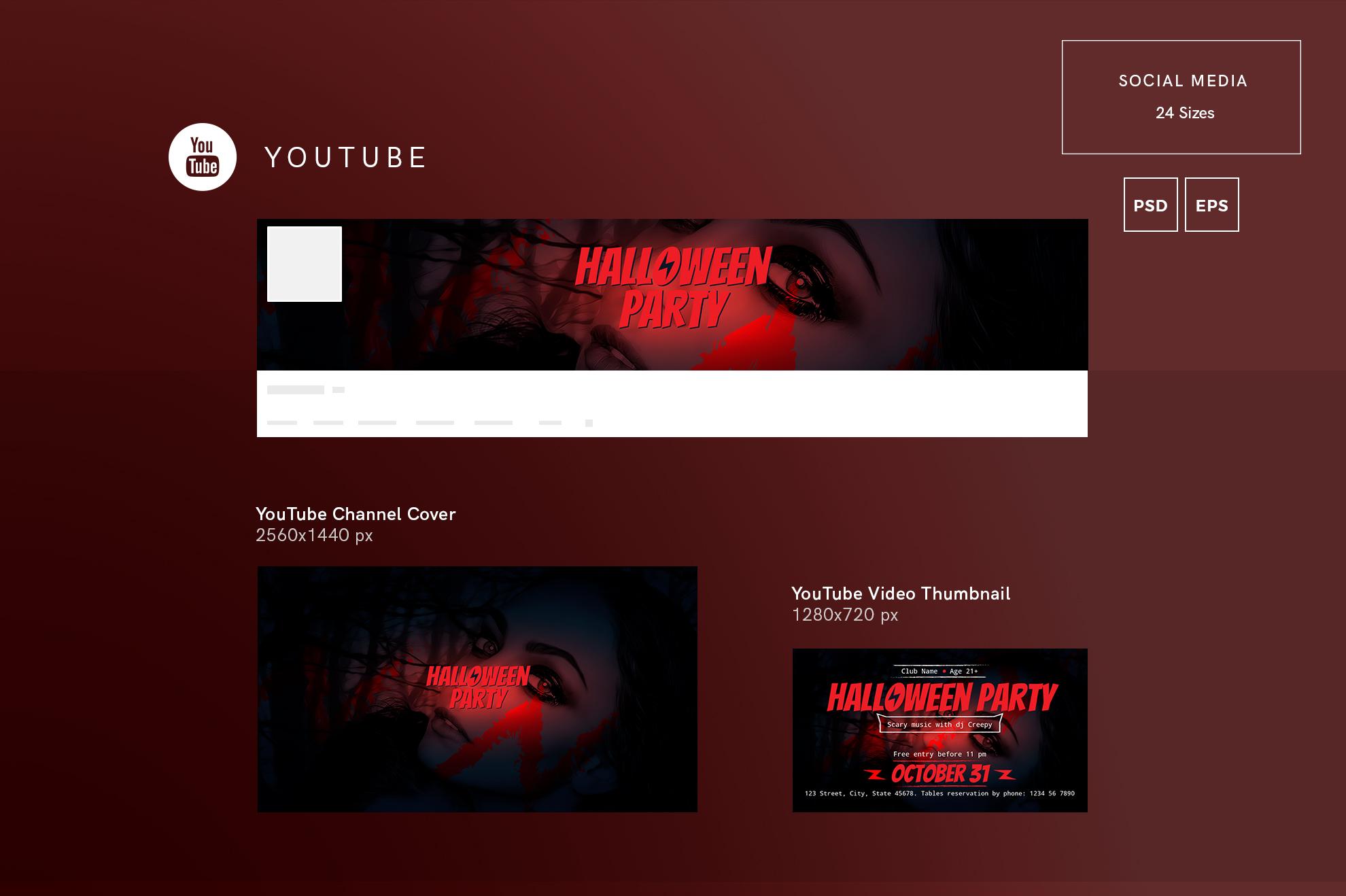 Halloween Party Design Templates Bundle example image 7