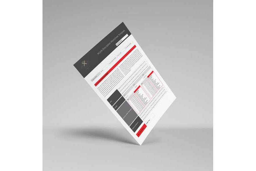 A4 Job Description Worksheet Template example image 2