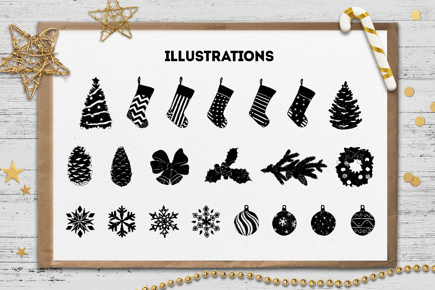 Hand Drawn Winter Collection example image 4