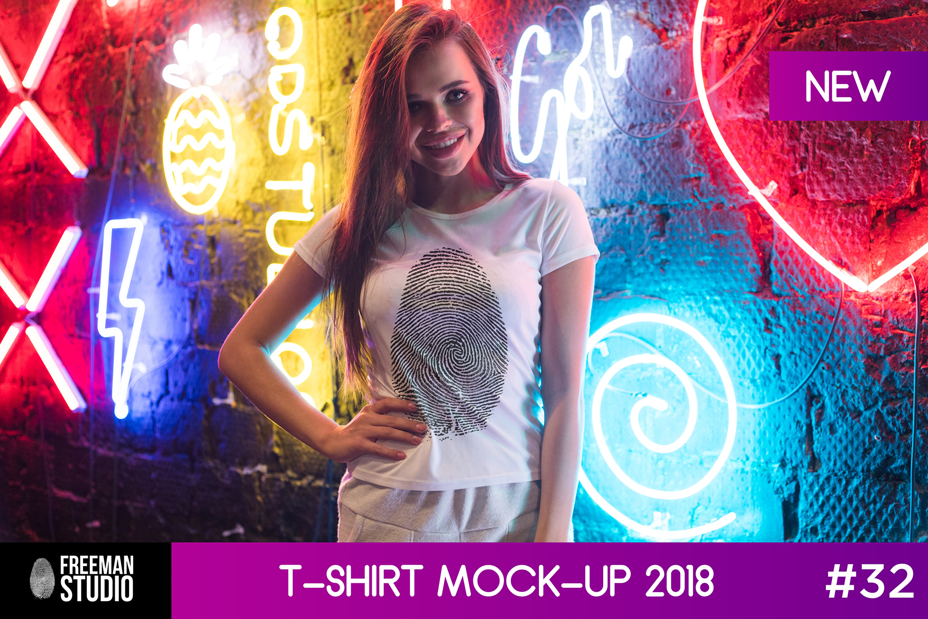 T-Shirt Mock-Up 2018 #32 example image 1