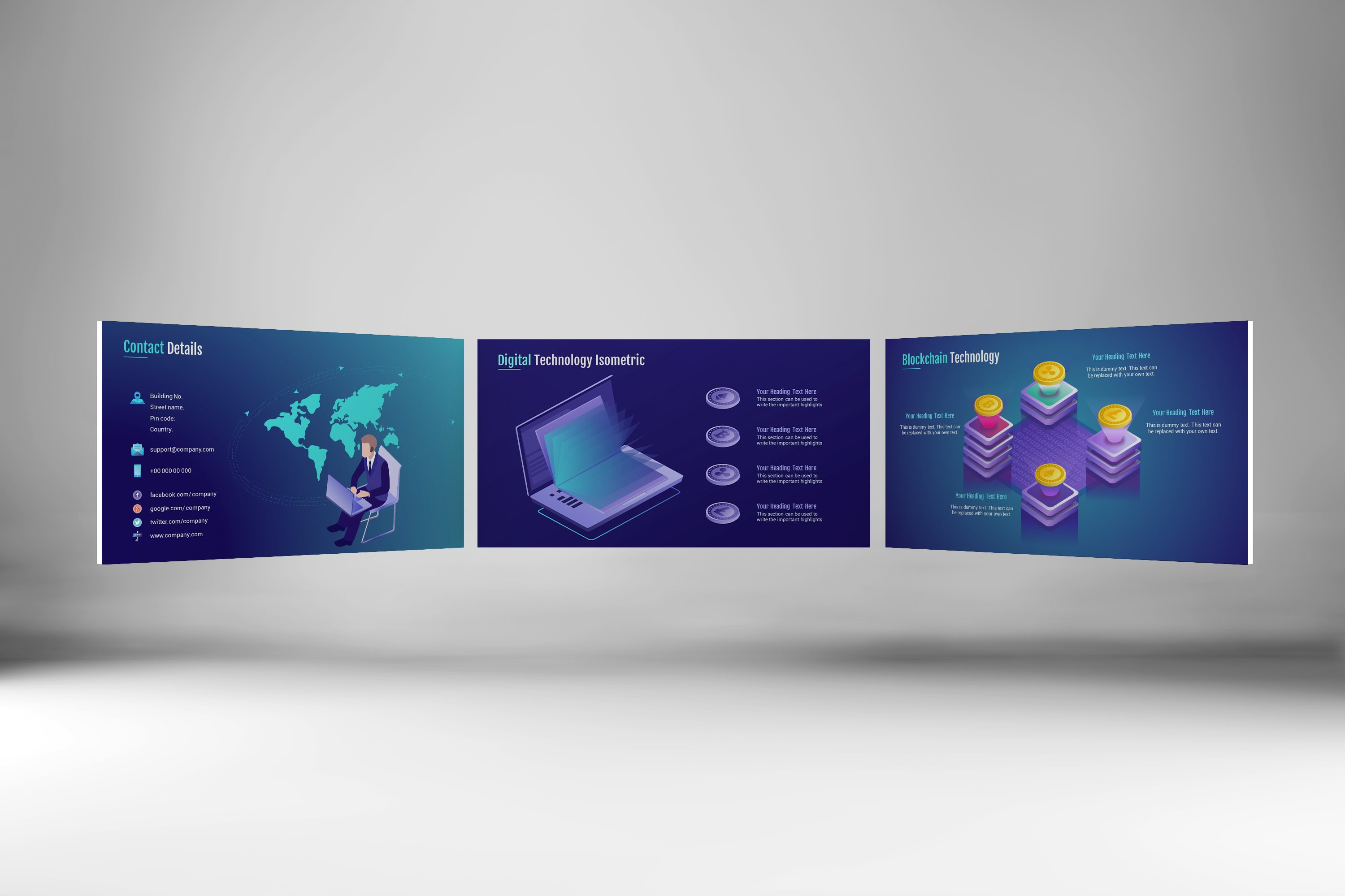 Smart Tech Keynote Template Small Pack example image 2