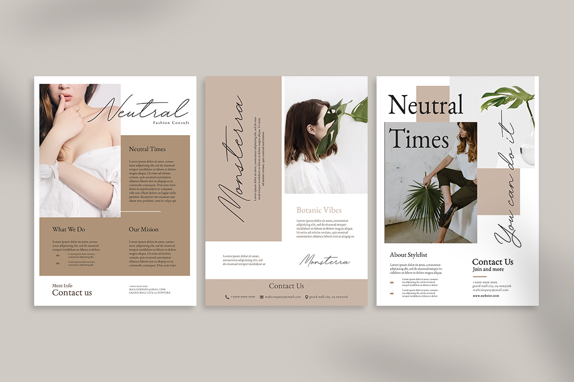 Neutral Flyer Templates example image 5