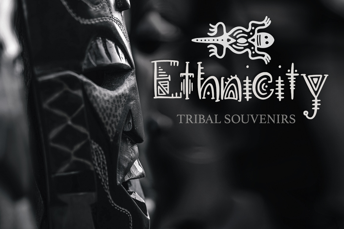 Aztec Soul. Tribal font with extras. example image 3