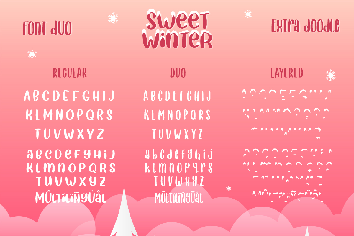 Sweet Winter - Layered Font Duo example image 9