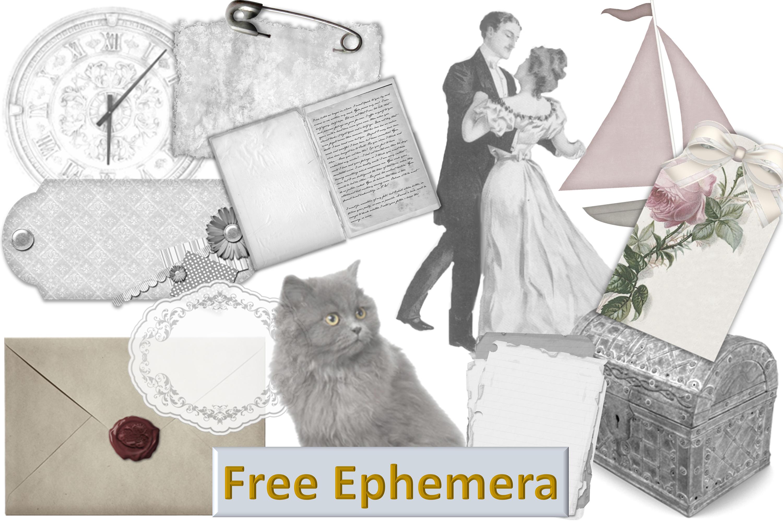 24 Printable Black and White Background Papers FREE Ephemera example image 2