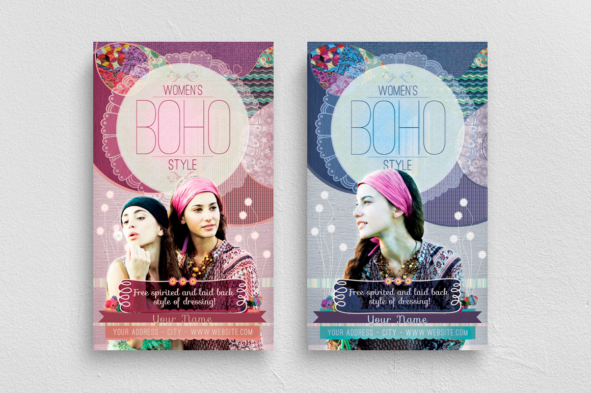 Women's Boho Style Flyer Template example image 1