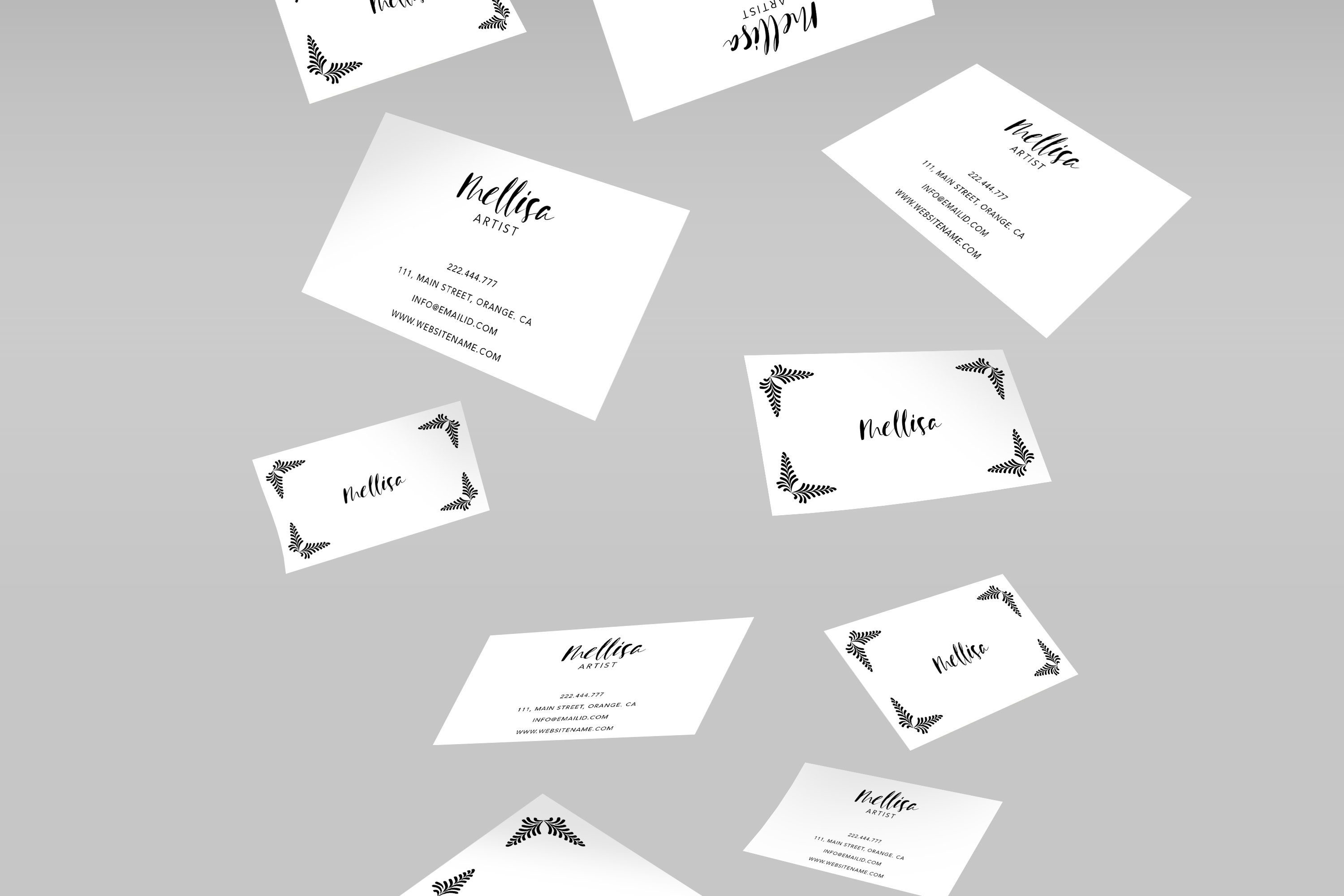 Eye catching art business card example image 3