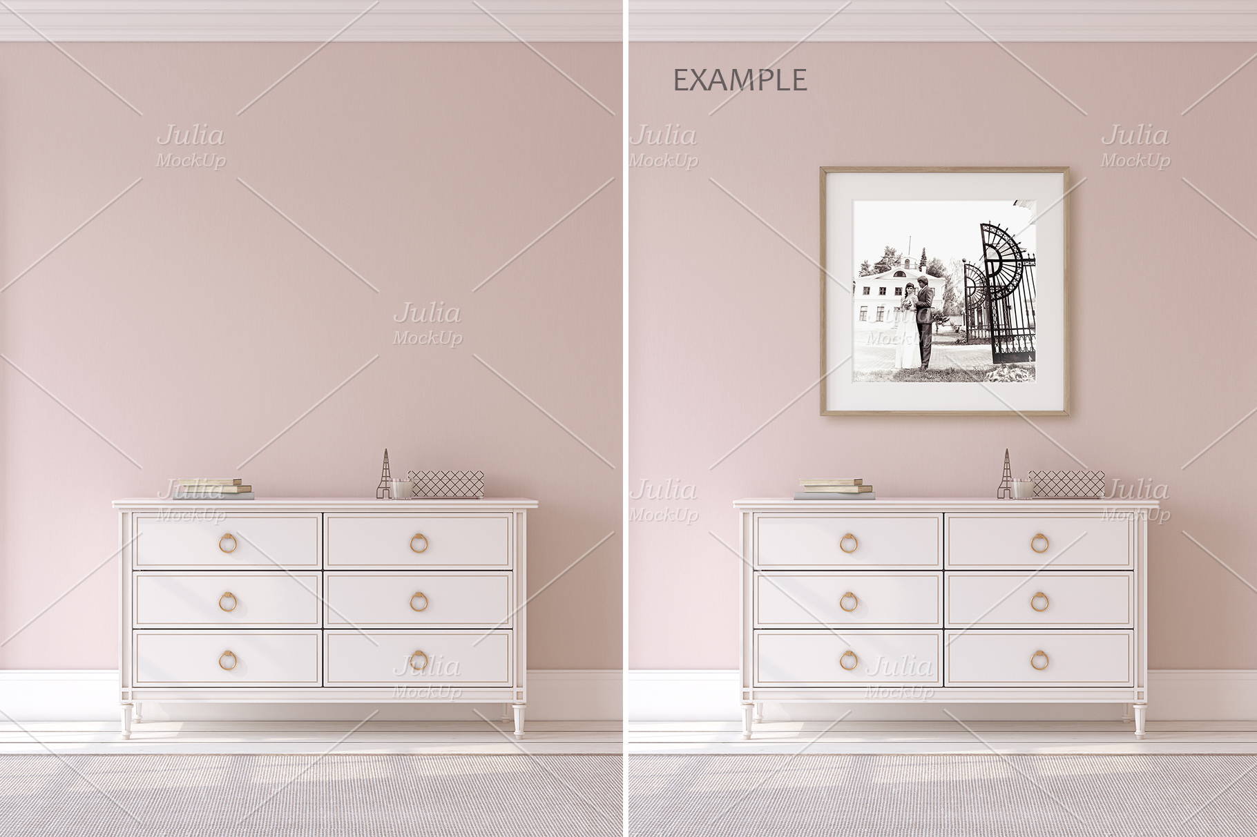 Pink Interiors. Frames&Canvases Mockup. example image 4