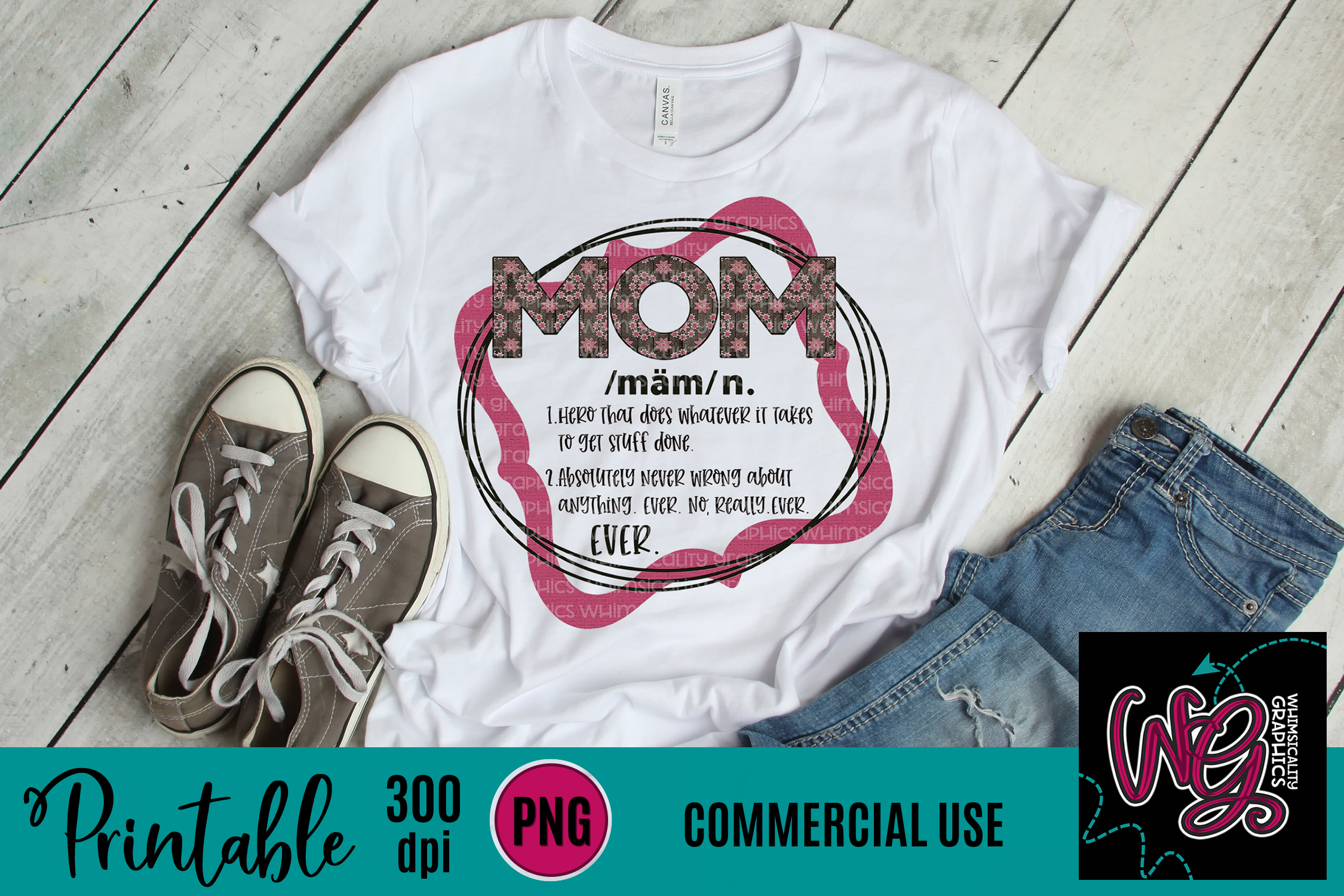 Definition of Mom Sublimation Printable example image 1