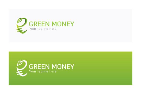Green Money - Indian Rupee Icon Stock Logo example image 2
