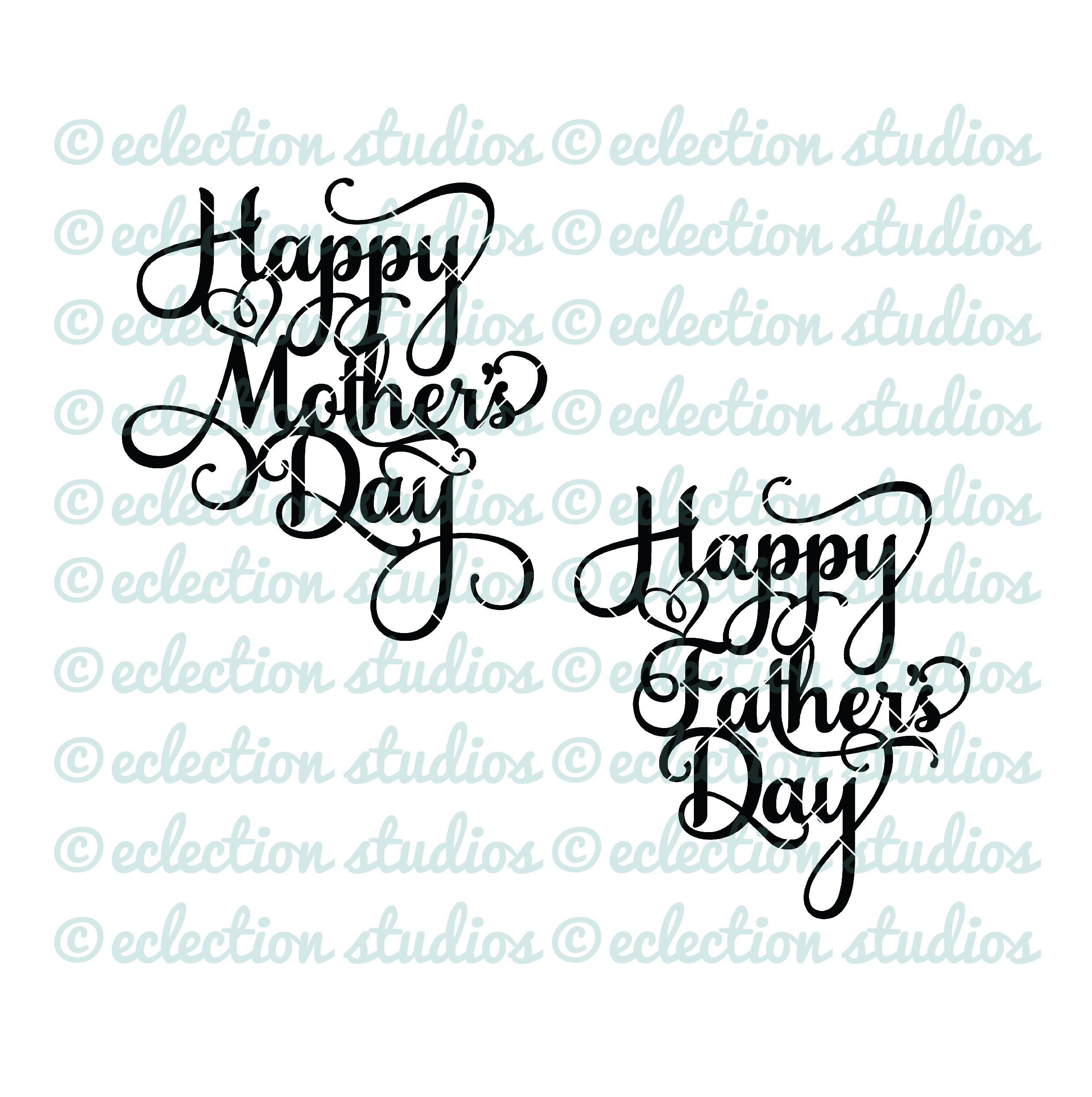 cake topper svg happy mother 39 s day happy father 39 s day. Black Bedroom Furniture Sets. Home Design Ideas