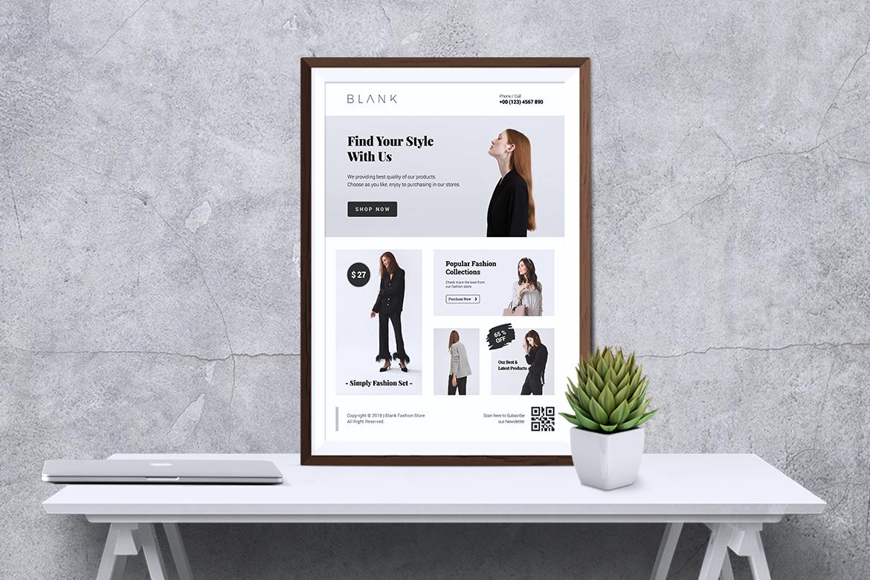 BALNK Minimal Fashion Flyer example image 6