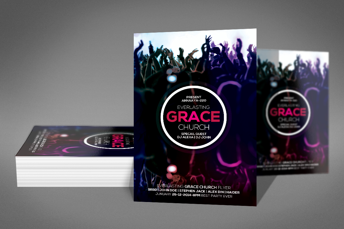 Grace Of God Church Flyer example image 2