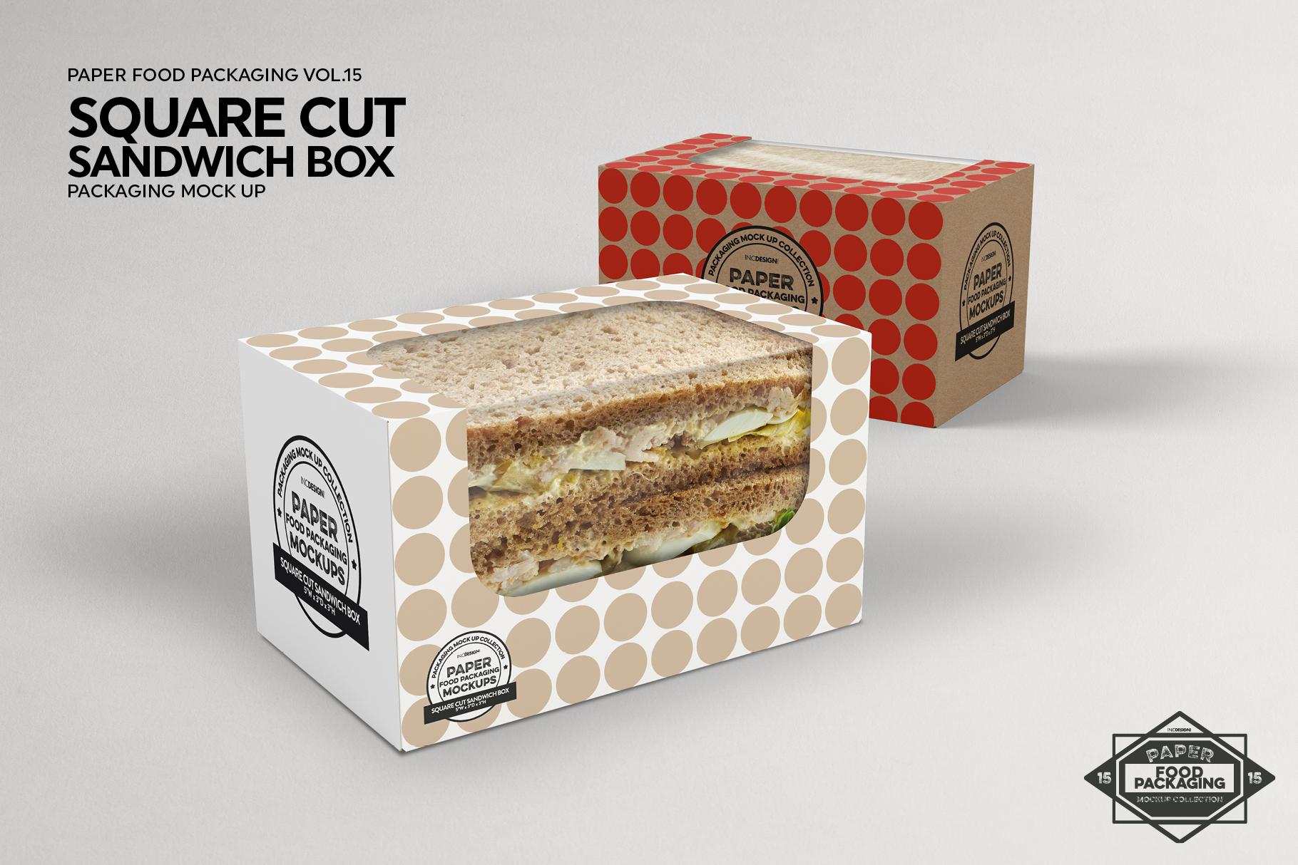 VOL.15 Food Box Packaging MockUps example image 17