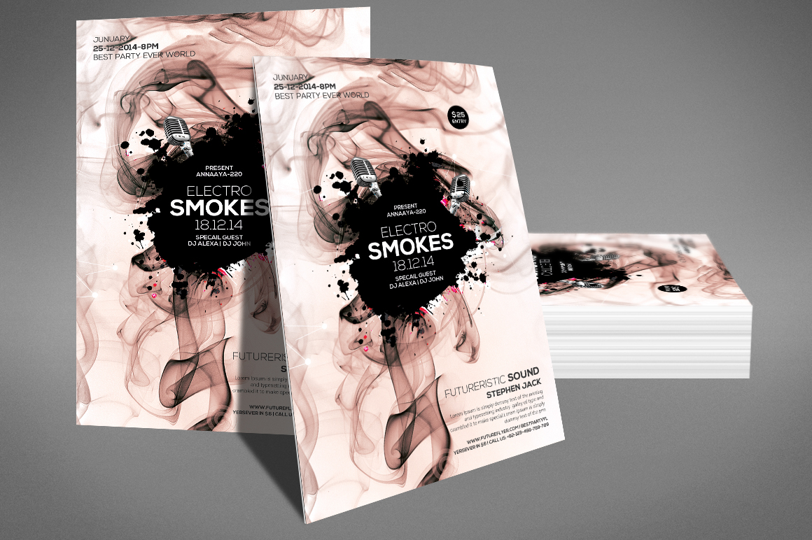 Smoke Night Party Flyer example image 3