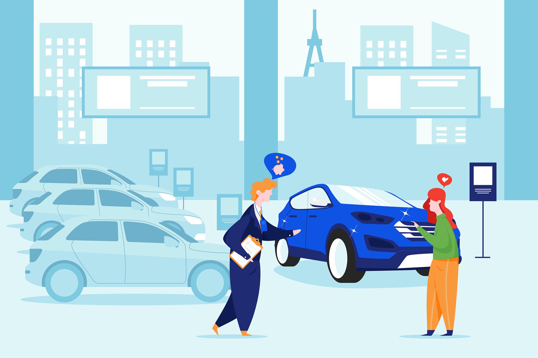 Car Dealership Vector Illustration Pack example image 6