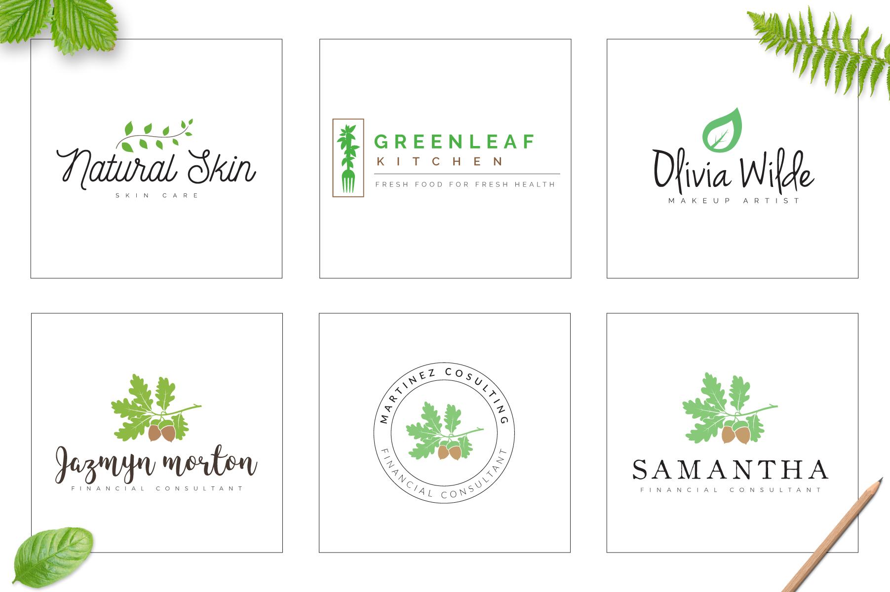 70 Elegant Floral Logo Bundle example image 15