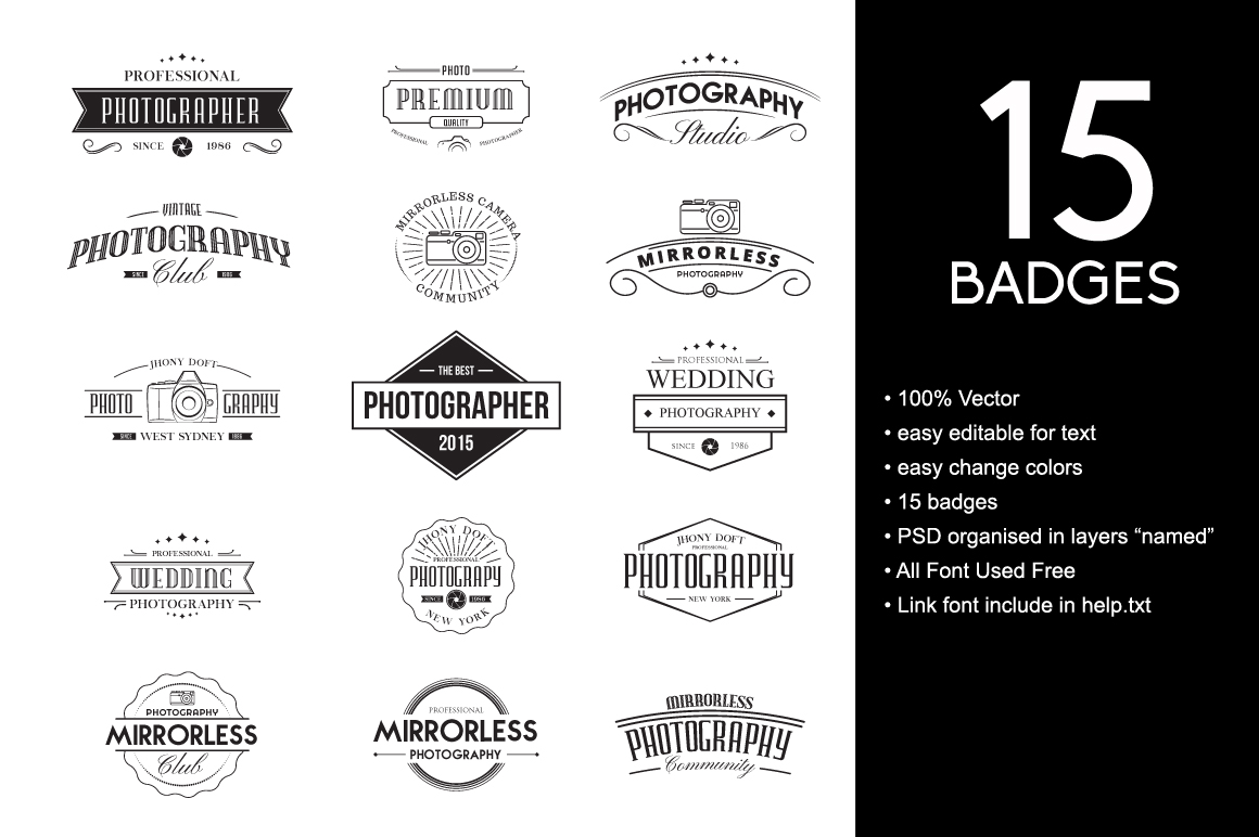 Vintage Badges for Photography example image 1