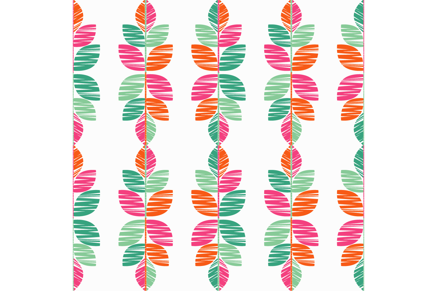 Decorative leaves. Set of 10 seamless patterns. example image 9