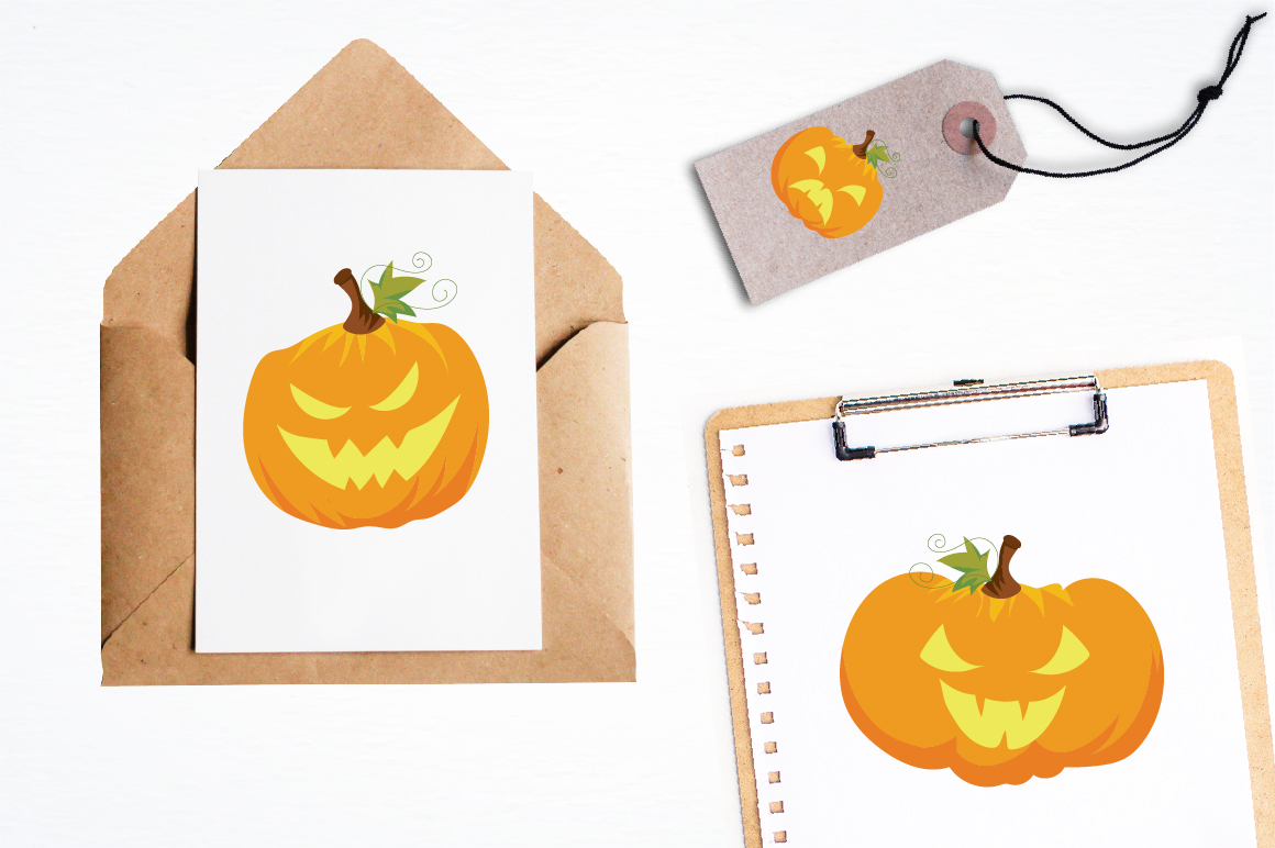Halloween Pumpkins graphics and illustrations example image 4
